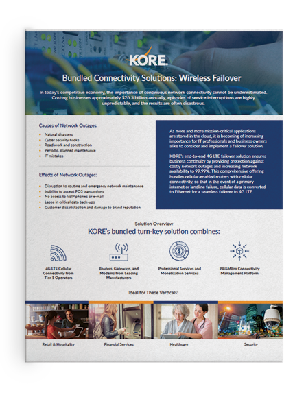 KORE Data Sheet - Wireless Failover Bundled Solutions